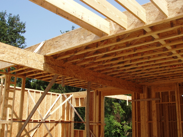 Open web floor trusses installed for Open web trusses